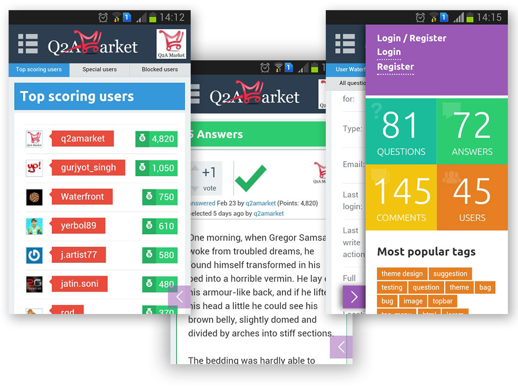 welcome to q2a market question2answer themes plugins