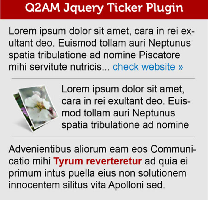 jQuery Ticker